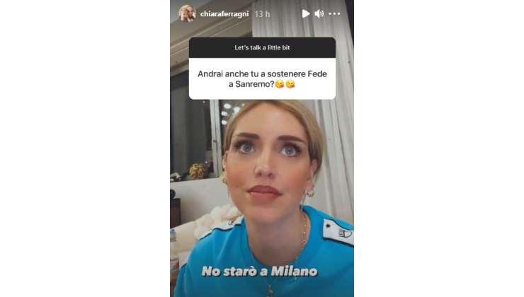 Chiara Ferragni parla della sua assenza a Sanremo su Instagram
