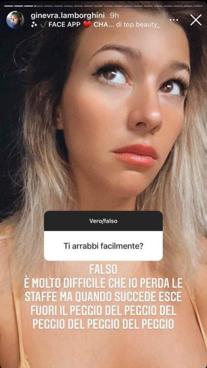 Ginevra Lamborghini domande dei follower bellezza infinita