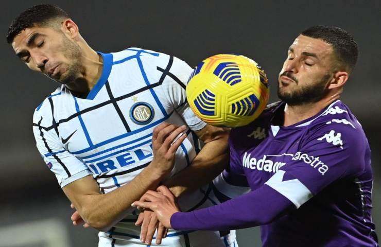 Fiorentina Inter 21 giornata Serie A