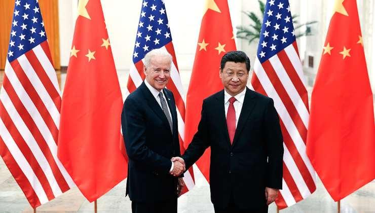 Joe Biden quando era vice di Obama col presidente cinese Xi Jinping - Getty Images