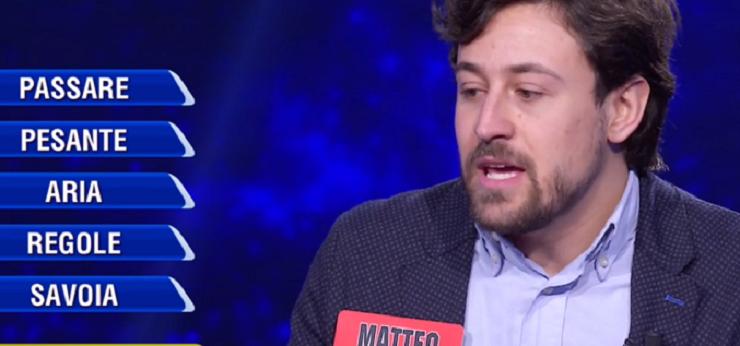 L'Eredità - il campione Matteo - 09.02.2021 - Screenshot