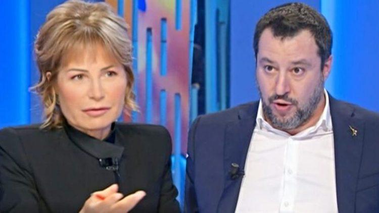 Lilli Gruber - Matteo Salvini - screenshot