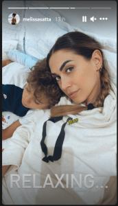 Melissa Satta a letto con uomo della sua vita