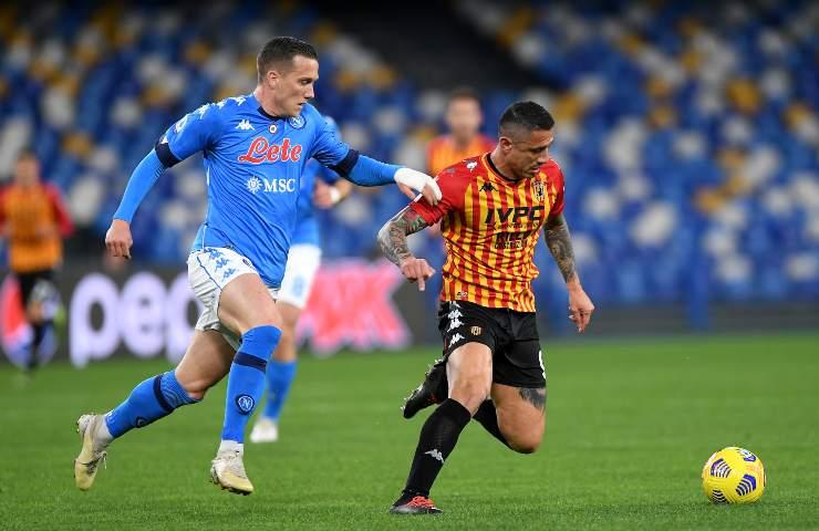 Napoli-Benevento pagelle e tabellino