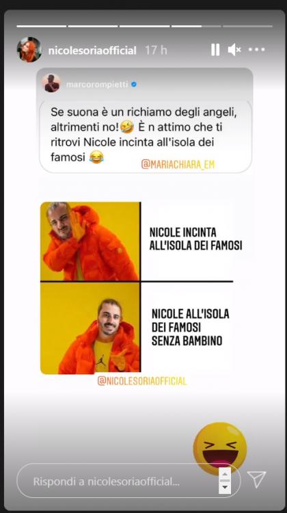 """Nicole Soria in """"dolce attesa""""? Rompietti spiega tutto"""