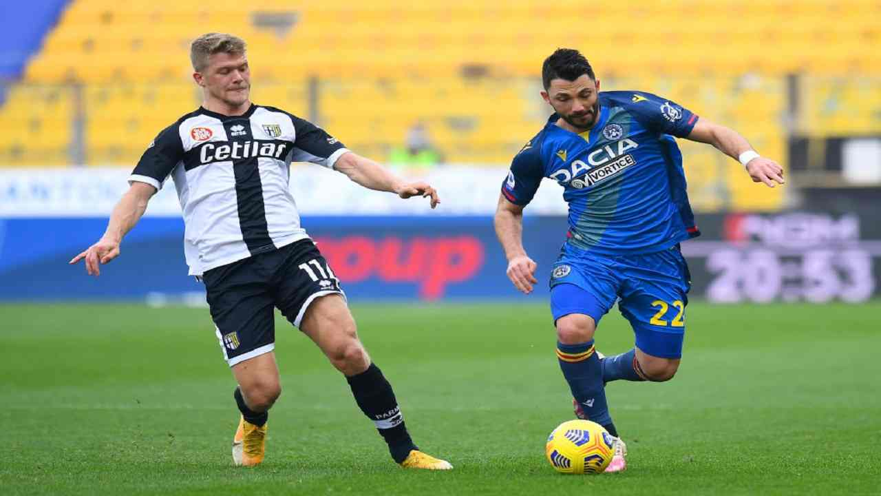 Parma-Udinese tabellino pagelle