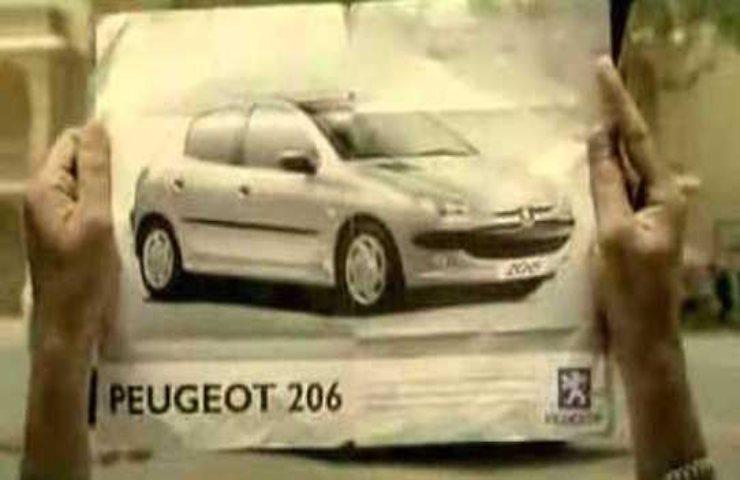 Ti sblocco un ricordo, spot Peugeot 206