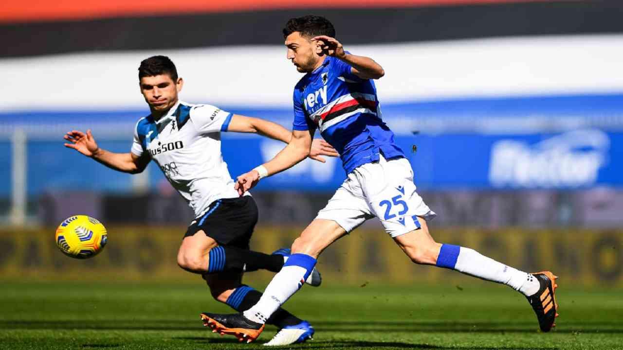 Sampdoria-Atalanta tabellino pagelle