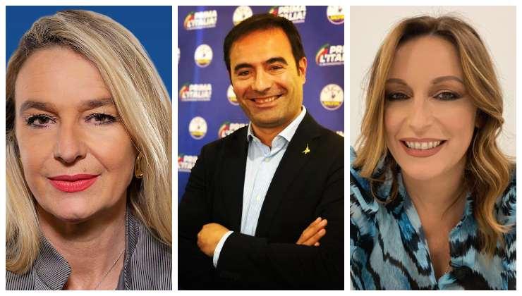 I sottosegretari della Lega Stefania Pucciarelli, Rossano Sasso e Lucia Borgonzoni