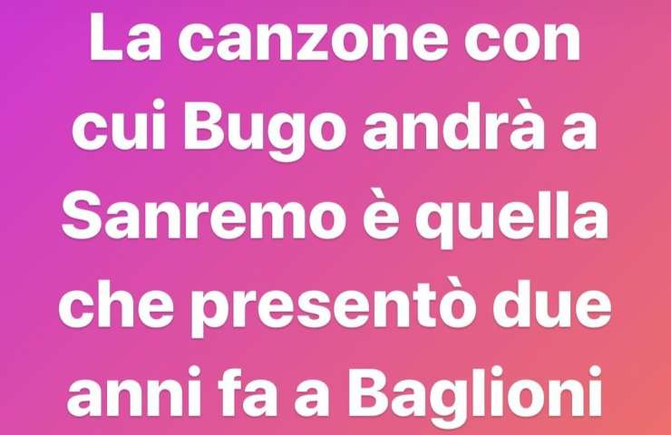 Sanremo Morgan Bugo