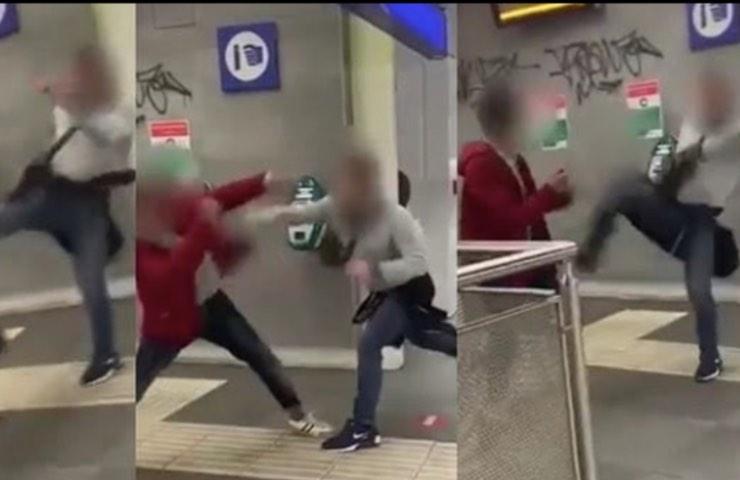roma Aggressione coppia gay metro