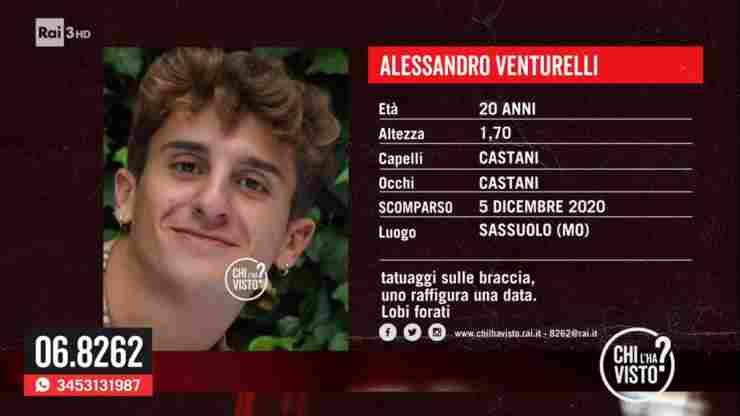 Alessandro Venturelli scomparsa