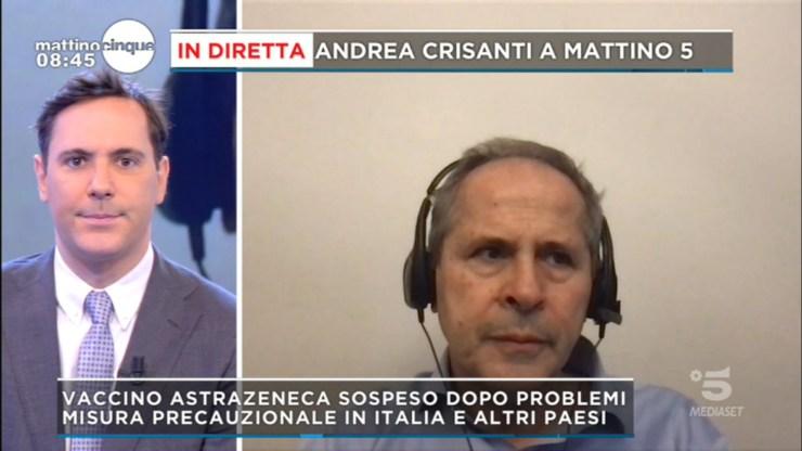 Mattino Cinque Andrea Crisanti AstraZeneca