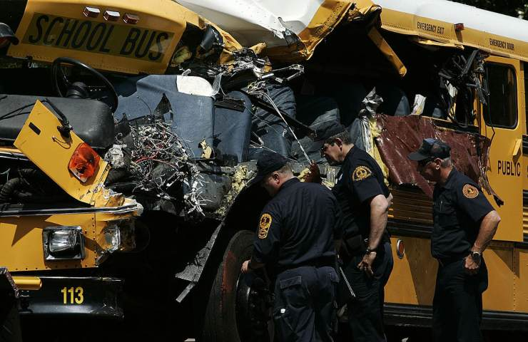Autobus studenti incidente