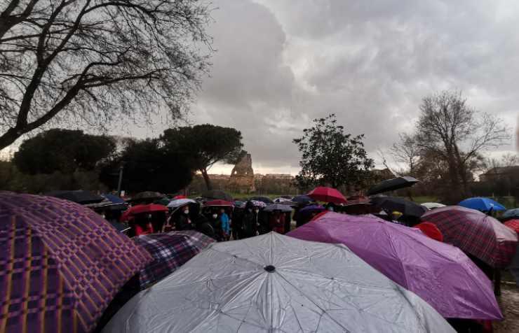 manifestazione villa gordiani