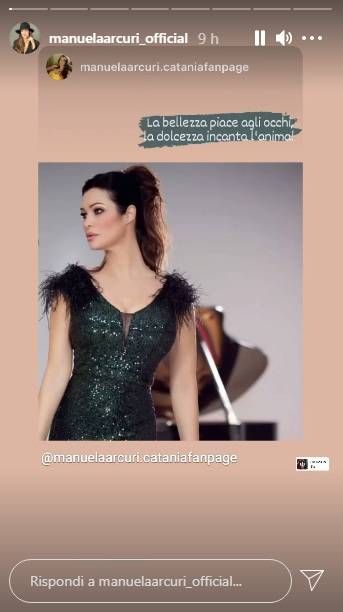 L'attrice Manuela Arcuri