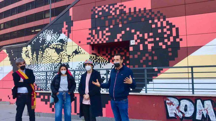 Roma inaugurazione murale LGBT+