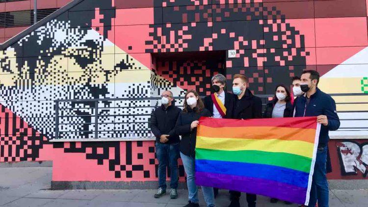 Roma Inaugurazione murales lgbt+
