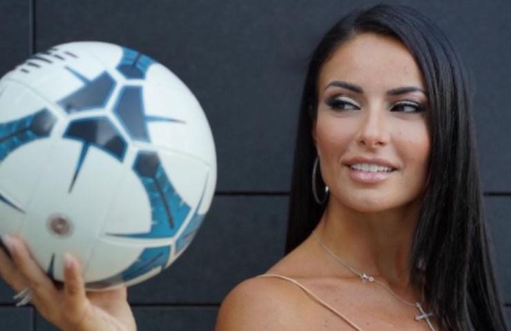 Monica Bertini con il pallone