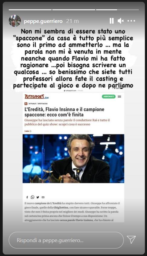 Flavio Insinna sorpreso a l'Eredità