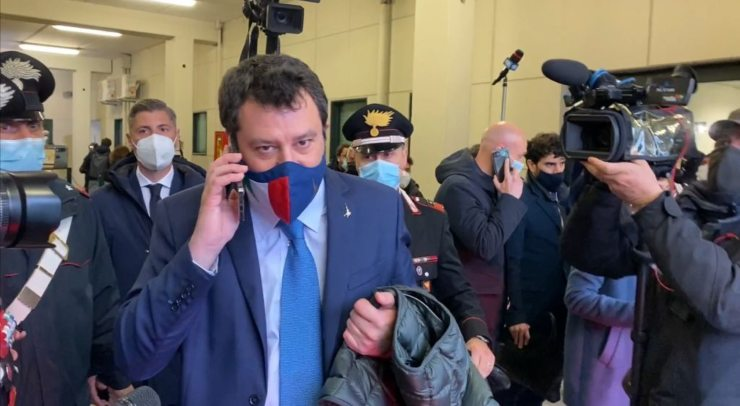Matteo Salvini a Palermo per processo Open Arms