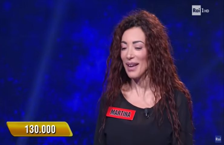 L'Eredità campionessa Martina chirurgia