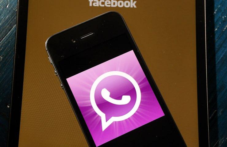 WhatsApp Pink attenzione distruttivo
