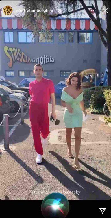 Eletta Lamborghini e Tommaso Zorzi sfilata