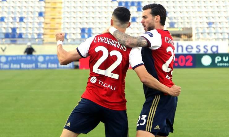 Gol Cagliari-Roma