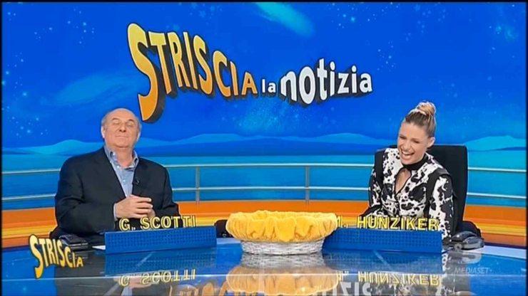 Striscia la notizia polemica Gerry Scotti, Michelle Hunziker
