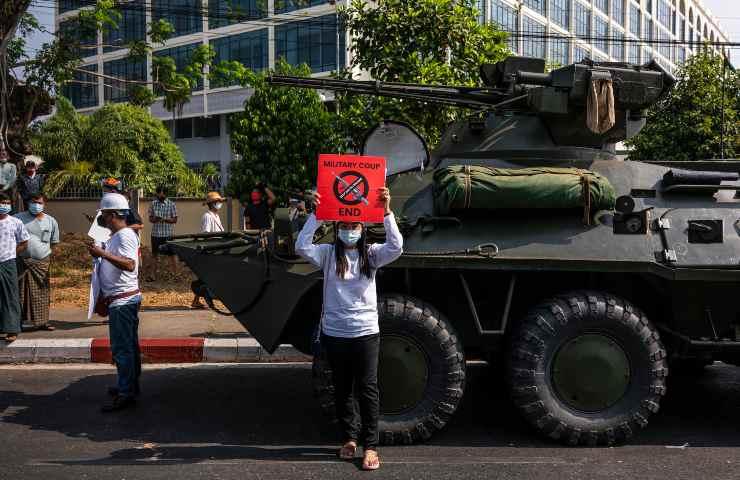 proteste birmania