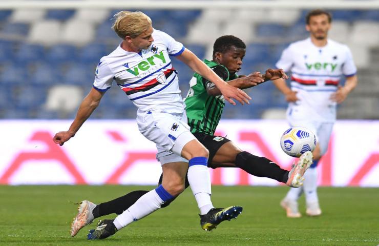 Sassuolo-Sampdoria serie A