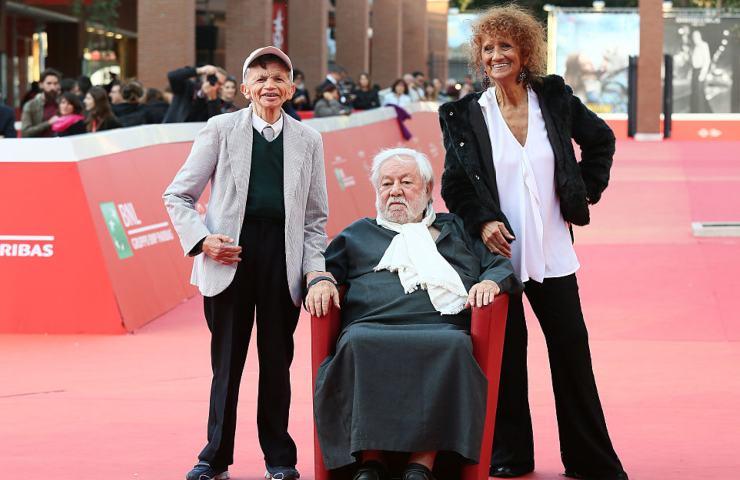 Anna Mazzamauro con Paolo Villaggio e Plinio Fernando