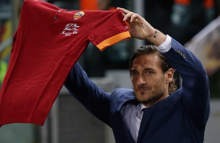 Francesco Totti lacrime ultimo intervento