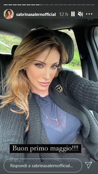 L'attrice Sabrina Salerno