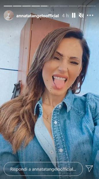 La cantante Anna Tatangelo