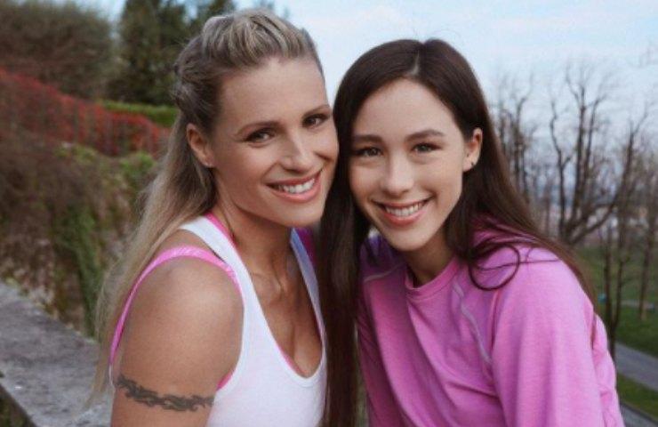 Michelle Hunziker con Aurora Ramazzotti