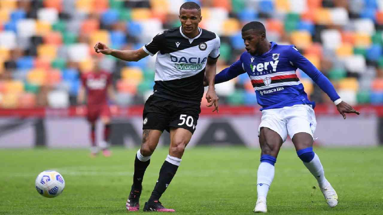 Udinese-Sampdoria pagelle tabellino