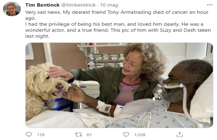 lutto cinema morto Tim Bentinck
