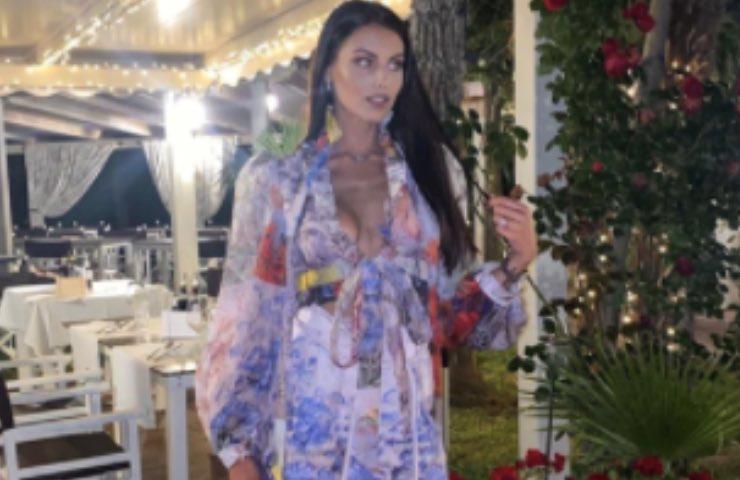 Carolina Stramare vestito sballo unica