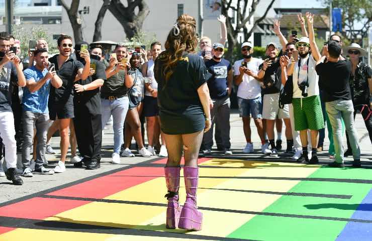 Lady Gaga versace pride month anniversario born this way
