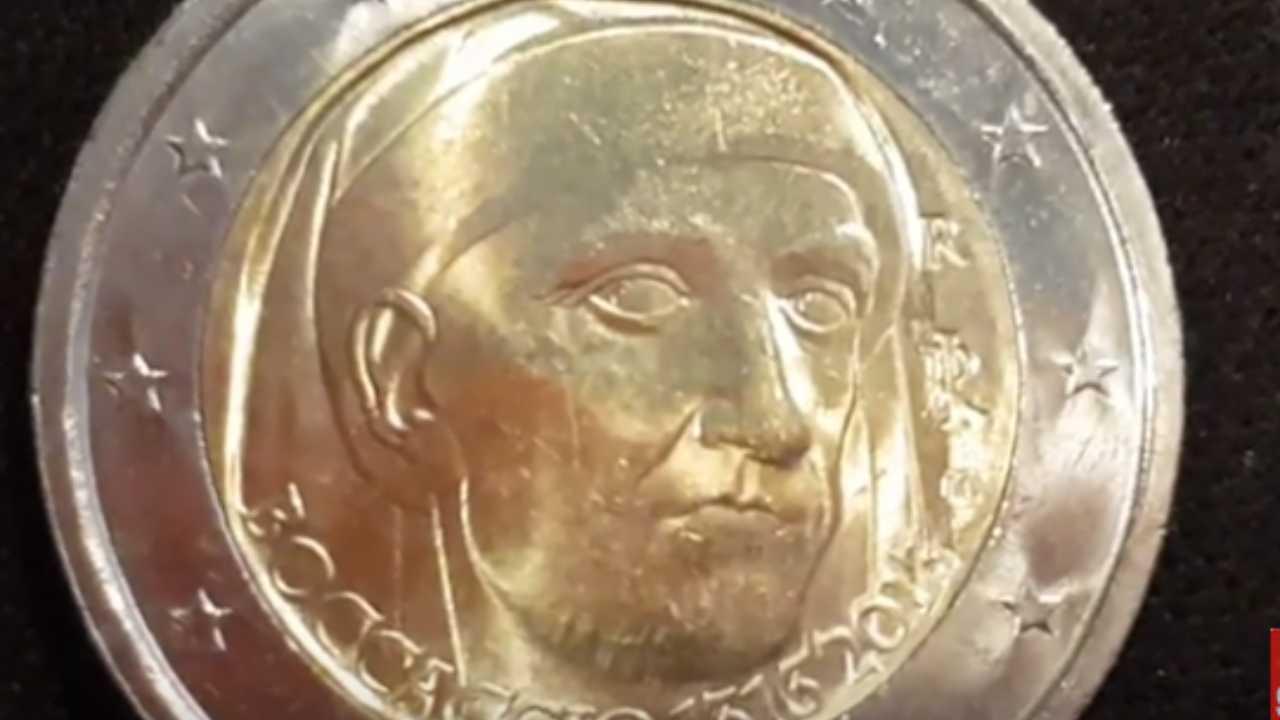 Moneta 2 Euro con Giovanni Boccaccio