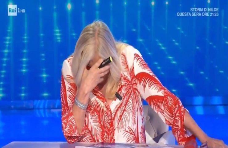Mara Venier pianto in diretta