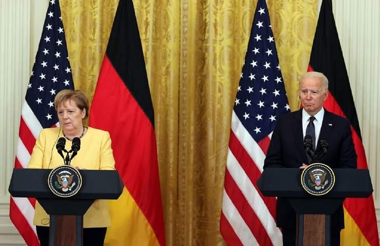 Angela Merkel e Joe Biden