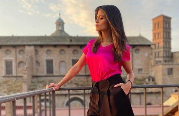 Veronica Gentili sul balcone