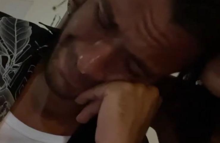 Pierpaolo Pretelli in lacrime