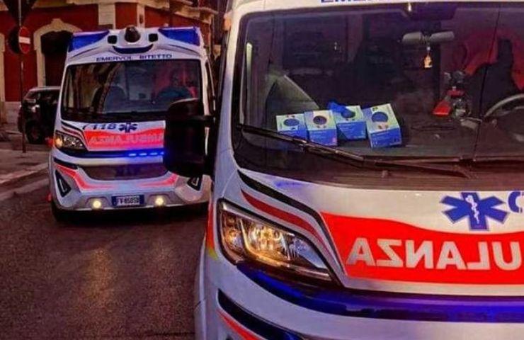 Ambulanza Sant'agata di Militello Messina bimbo tre anni soffocato