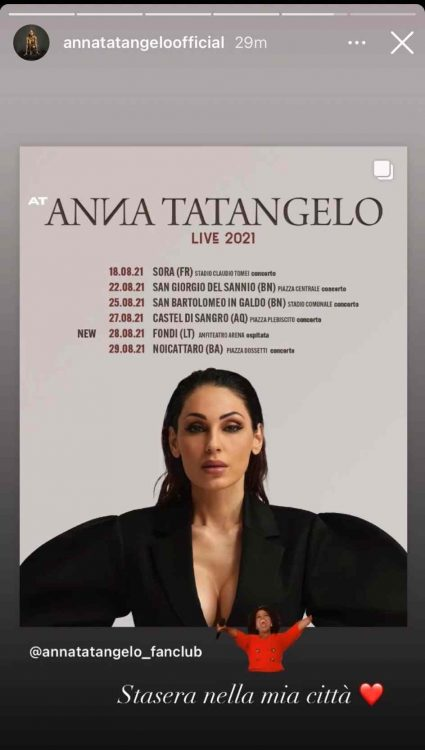 Anna Tatangelo - Storie di Instagram