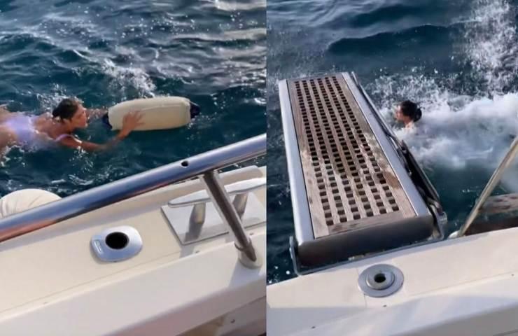 Elisa Isoardi - salvataggio in mare. Fonte foto giornale Leggo