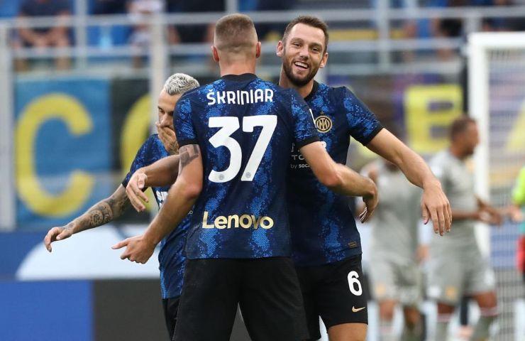 Abbraccio Inter-Genoa